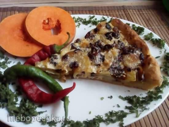 Пирог картофельный с грибами на творожном тесте