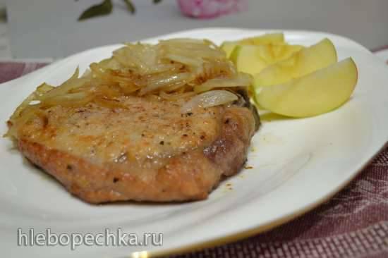 Филе из свинины (стейки, отбивные, корейка, эскалопы), жареное на сковороде