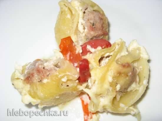 """Конкурс от Steba """"Блюда из духовки"""" Ракушки фаршированные, запеченные со сладким перцем под сметанно-сырным соусом"""