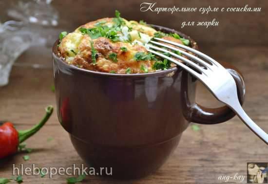 Картофельное суфле с сосисками для жарки Картофельное суфле с сосисками для жарки