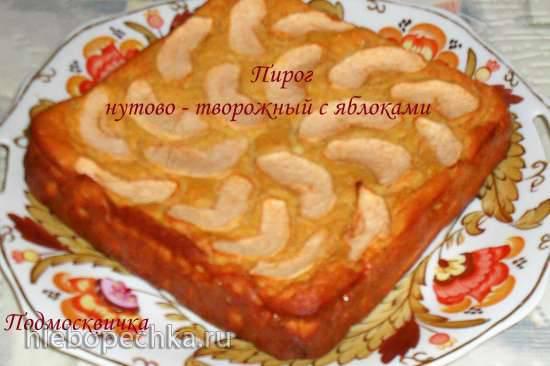 Пирог нутовый с творогом и яблоками Пирог нутовый с творогом и яблоками