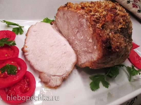 Запеченная свинина с ореховой корочкой