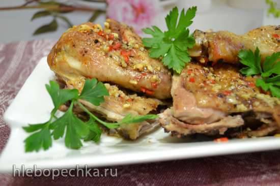 Курица-тапака запеченная в духовкеКурица-тапака запеченная в духовке