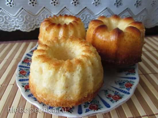 Крахмальные кексы без муки и масла на сгущёнке, с лимонной ноткой