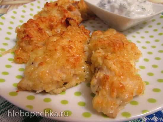 Курица в сырно-чипсовой панировкеКурица в сырно-чипсовой панировке