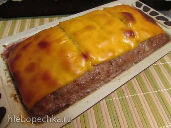 Мясной хлебец с разноцветным перцем