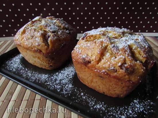 Тыквенно-медовый кекс с изюмом