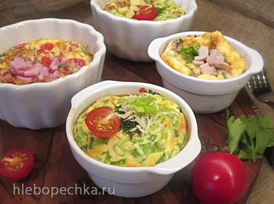 Омлеты порционные в духовке с разными начинками Омлеты порционные в духовке с разными начинками