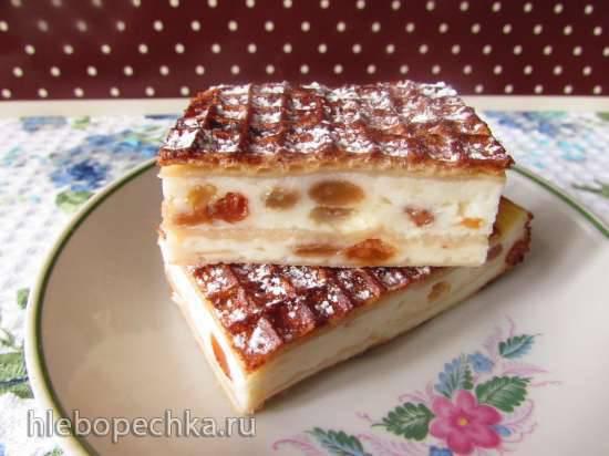 """Конкурс от Steba """"Блюда из духовки"""" Творожный пирог-запеканка с яблоком и изюмом в вафельных коржах"""
