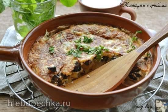 Постный картофельный пирог с грибами по рецепту Елены Чекаловой