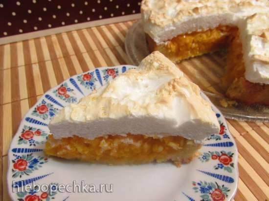 Тыквенно-лимонный пирог под белковой шапочкой