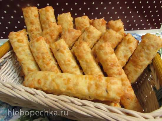 Сырные брусочки с тмином Сырные брусочки с тмином
