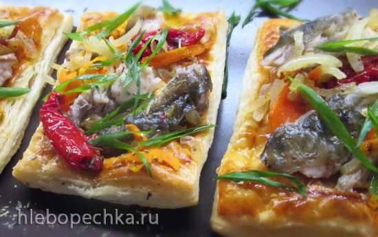 Быстрые абрикосовые слойки Слойки с овощами и рыбой на закуску