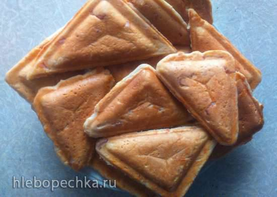 Закусочные кексики в панельке сэндвич  (мультипекарь Redmond)