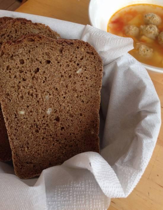 70% ржаной хлеб на закваске трехфазным способом (Дж.Хамельман)
