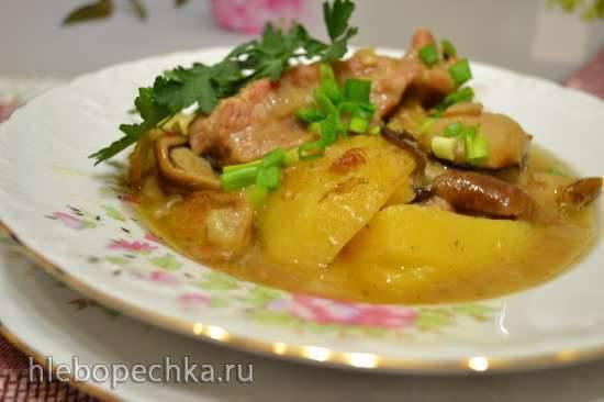 """Конкурс от Steba """"Блюда из духовки"""" Жаркое из грудинки с белыми грибами для воскресного обеда, запеченное в духовке"""