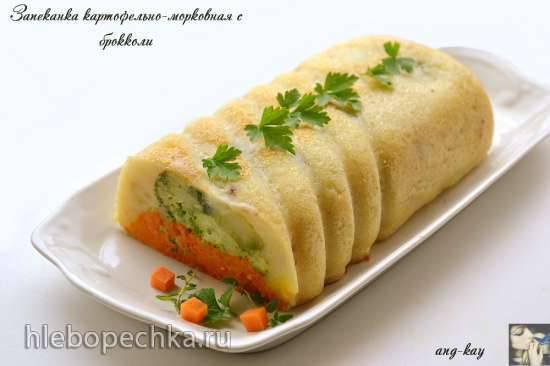 Запеканка картофельно-морковная с брокколи (постная)