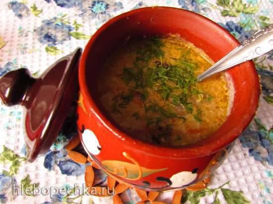 """Конкурс от Steba """"Блюда из духовки"""" Молочно-грибной суп с кабачком и картофелем в горшочках"""