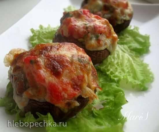 Запеченные с овощами грибы по-тоскански