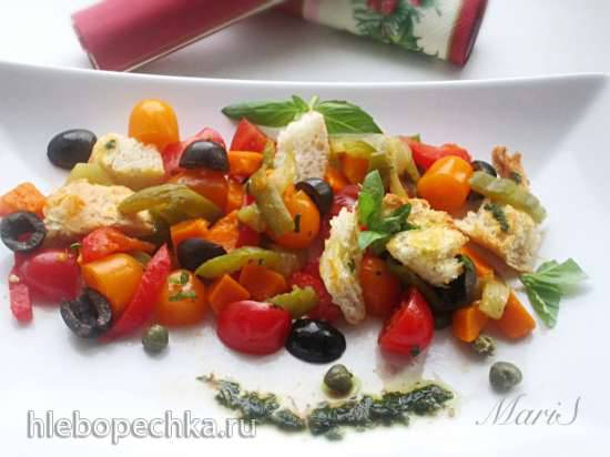 Салат из запеченных овощей и багетаСалат из запеченных овощей и багета