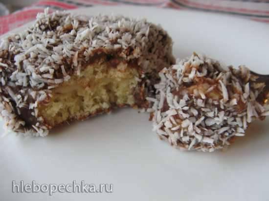 Пирожные шоколадно-кокосовые с вареной сгущенкойПирожные шоколадно-кокосовые с вареной сгущенкой
