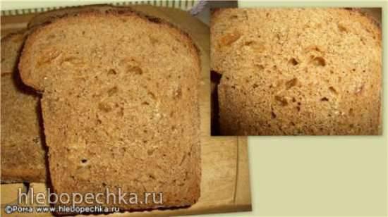 Хлеб цельнозерновой пряный с изюмом