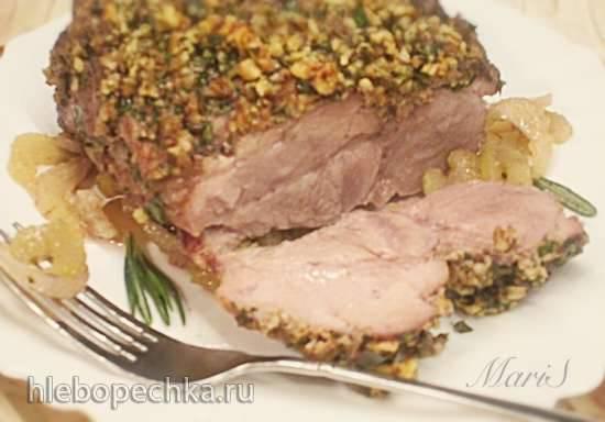 Свинина в орехах с зеленью и маринаде из сельдерея Свинина в орехах с зеленью и маринаде из сельдерея