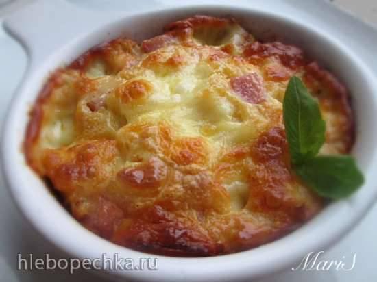 Пирог-запеканка из сыра с ветчиной Пирог-запеканка из сыра с ветчиной
