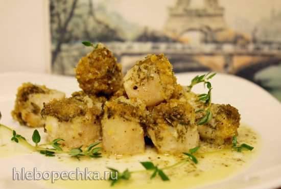 Морские гребешки, запеченные в духовке