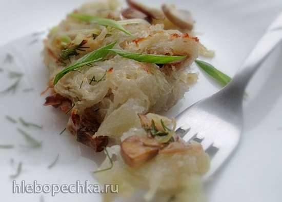 Картофельная бабка с грибами