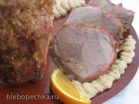 Запеченная свинина в медовом соусе (Porsaan uunifilee ja hunajainen kastike)