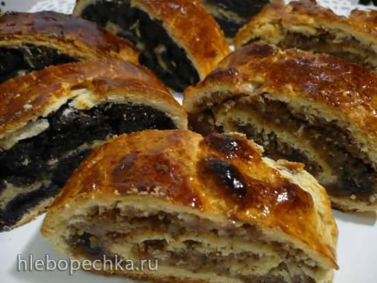 Венгерские рождественские рулеты - Бейгли (Bejgli) с маком и орехами