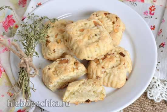 Постное луковое печенье с травами