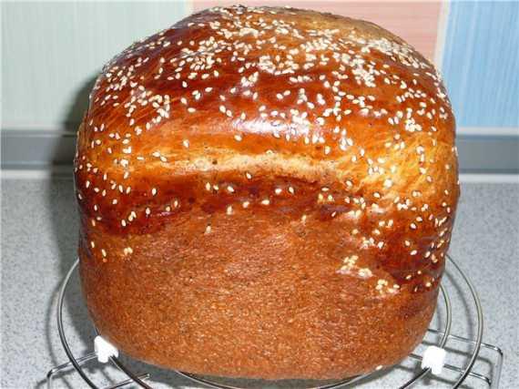 Сдобная булка (хлебопечка)