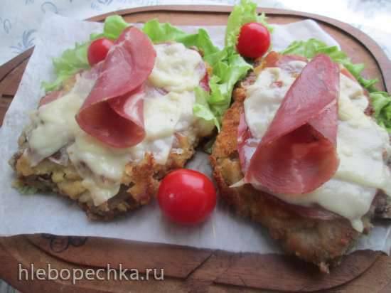 Телячья котлета под сырной корочкой или cotoletta alla bolognese Телячья котлета под сырной корочкой или cotoletta alla bolognese