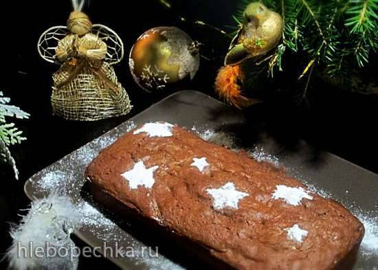 Шоколадно-гречишный кекс с черносливом