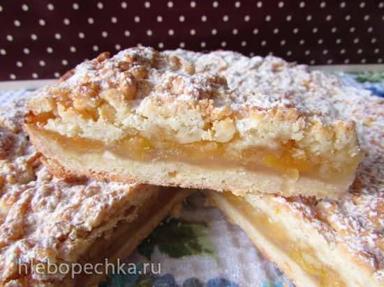 Лимонно-яблочный пирог(по рецепту Ирины Аллегровой)Лимонно-яблочный пирог(по рецепту Ирины Аллегровой)