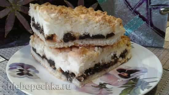 Пирог с черносливом и творогом Пирог с черносливом и творогом