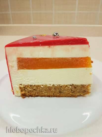 Морковно-манговый торт