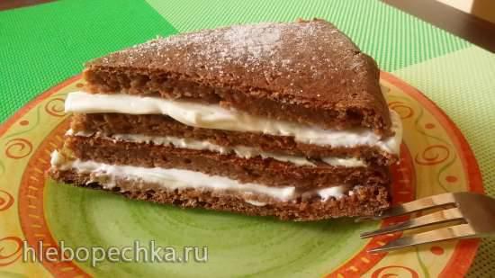 Морковный торт с творожным кремом (без муки, без сахара)
