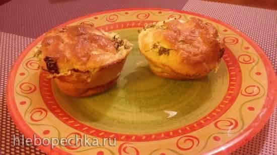 Закусочные пирожки-маффины без мукиЗакусочные пирожки-маффины без муки