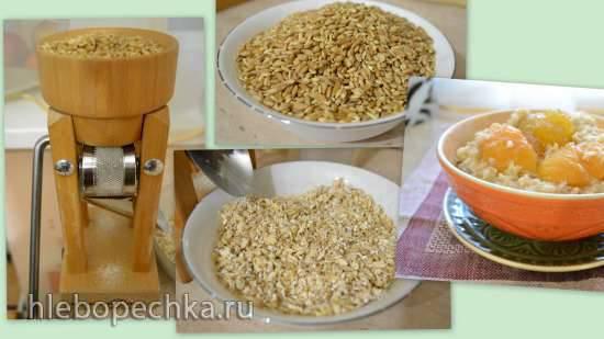 Каши разные важны, каши разные нужны)) Плющенное зерно (крупа) домашнего приготовления и каши из него