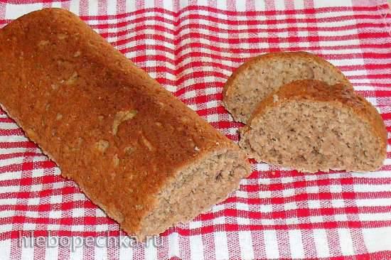 Бездрожжевой пшенично-ржаной цельнозерновой хлеб на кефире
