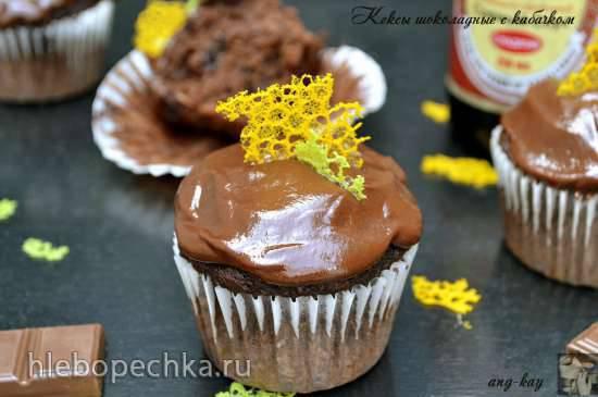 Кексы шоколадные с кабачком