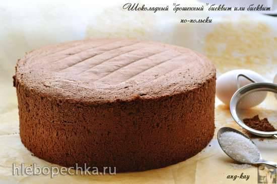 """Шоколадный """"брошенный"""" бисквит или бисквит по-польски"""