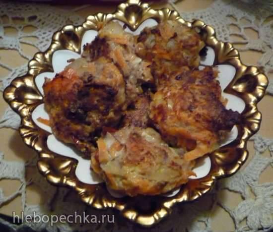 Курино-овощные низкокалорийные котлеты