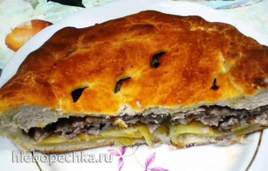 Пирог с фаршем и картофелем Пирог с фаршем и картофелем
