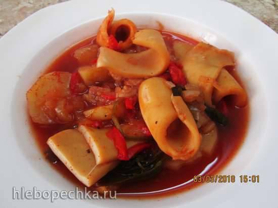Португальская кухня Похлебка из кальмаров ( Caldeirada de lulas)