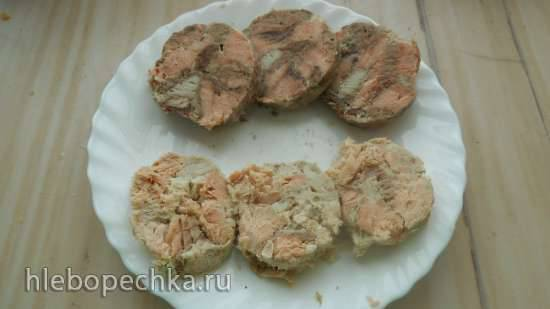 Рулет из морской жирной рыбы
