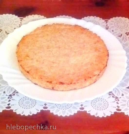 Творожная запеканка-пирог с сечкой из полбы и с апельсиновым соусом